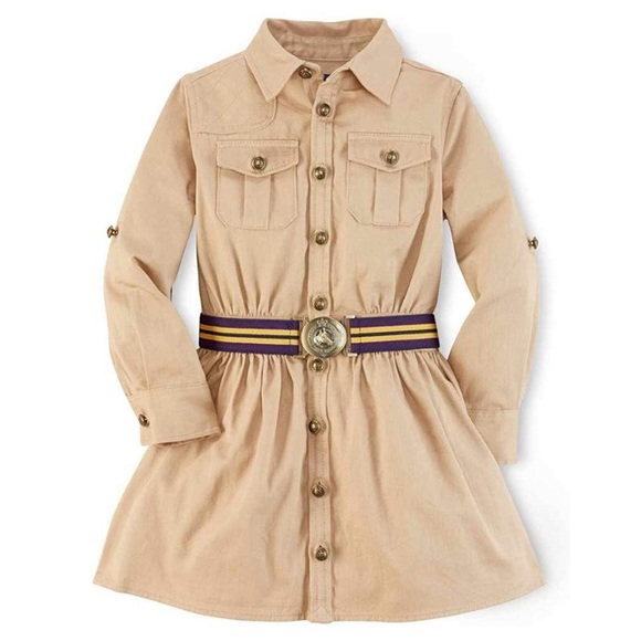 Ralph Lauren Other - Ralph Lauren Khaki Cargo Shirt Dress Button Down